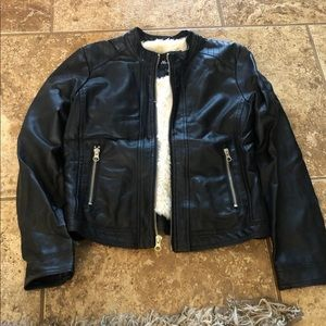 Girls pleather jacket 12 - amazing condition!
